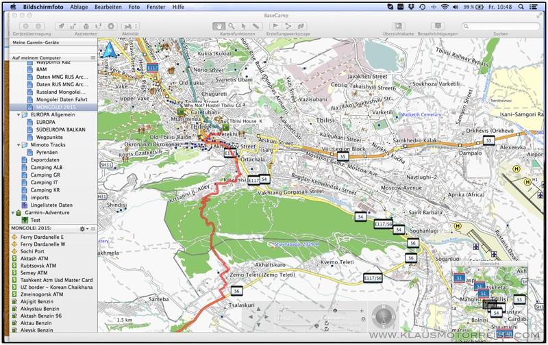 Klaus Reisepage - OSM Karten & Navi